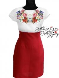 Вишиванка плаття комбіновані на короткий рукав d5711f2ca1cef